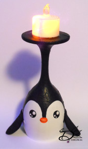 Penguin Wine Glass
