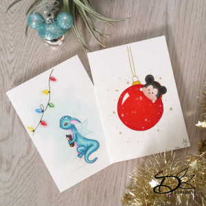 Tsum Tsum Christmas Card and Dragon