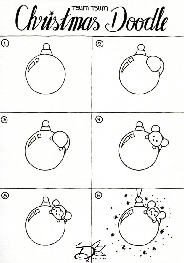 Tsum Tsum Christmas Card Doodle