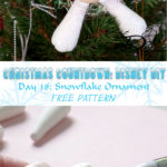 ♥ Day 18: Snowflake Clay Ornament