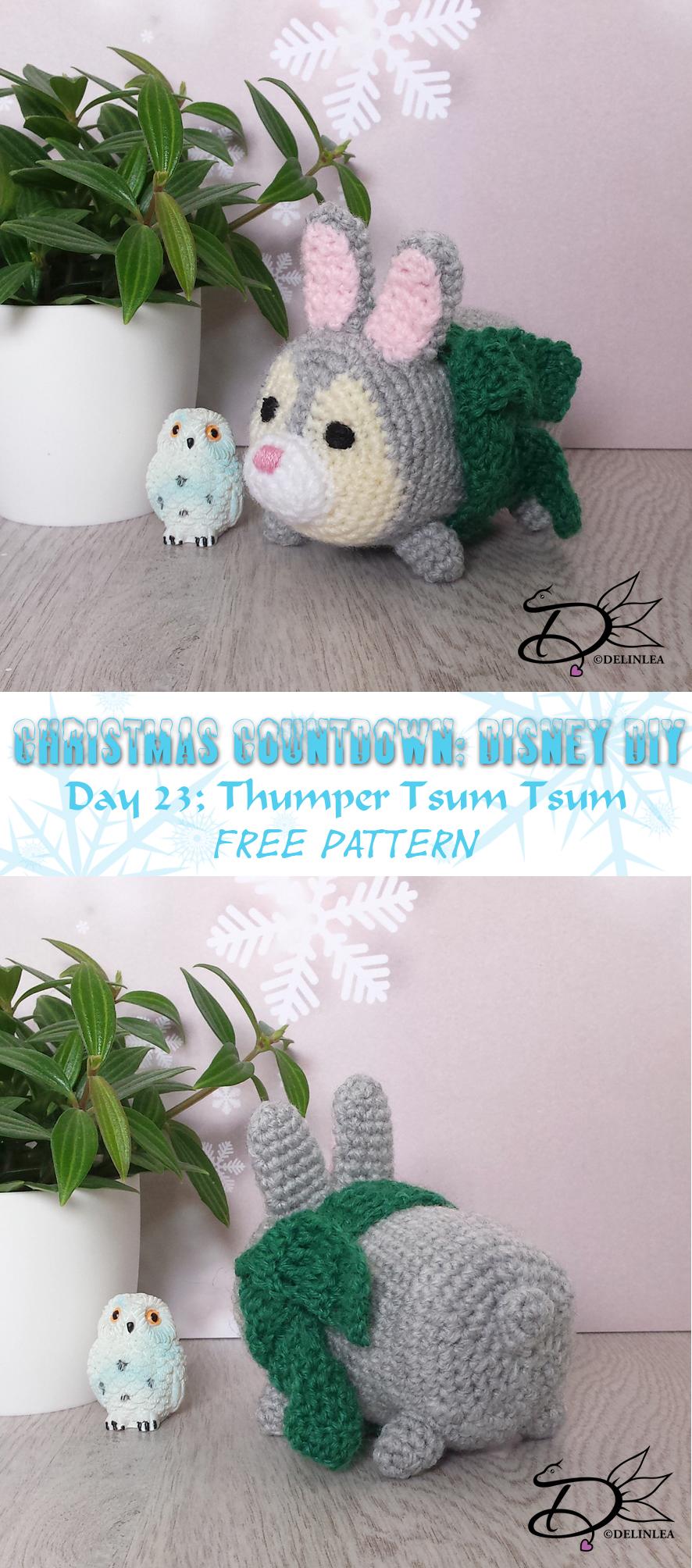 ♥ Free Pattern; Sulley Tsum Tsum Amigurumi - Delinlea - My little ... | 2008x886