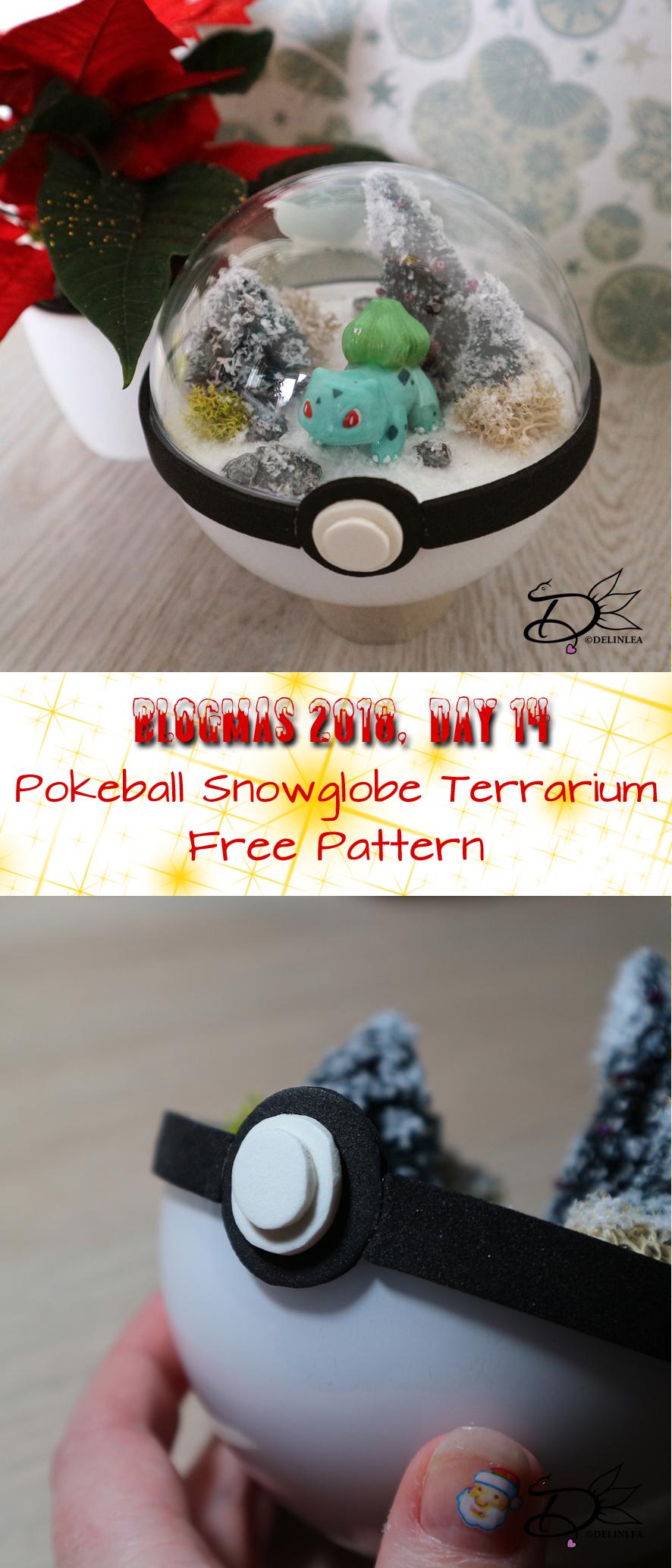 Day 14 Pokeball Snowglobe Terrarium Delinlea My Little Fantasy World