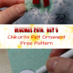 ♥ Day 9; Chikorita Felt Ornament