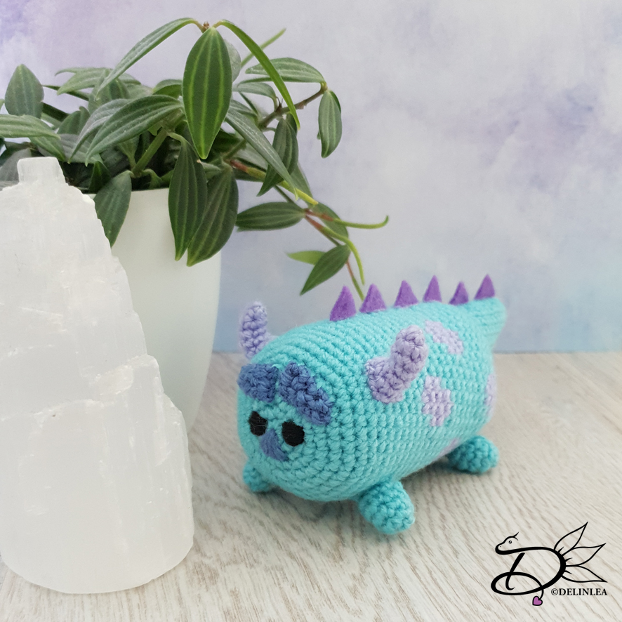 Amigurumi Mike Wazowski Free Crochet Pattern - Amigurumi Free Patterns | 886x886