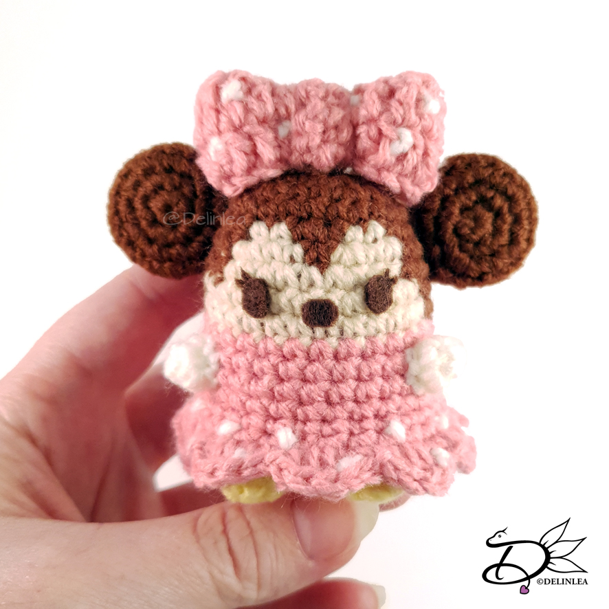 Minnie Mouse Amigurumi - Free Pattern (Beautiful Skills - Crochet ... | 886x886