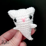 ♥ Free Pattern; Cat Ghost Amigurumi