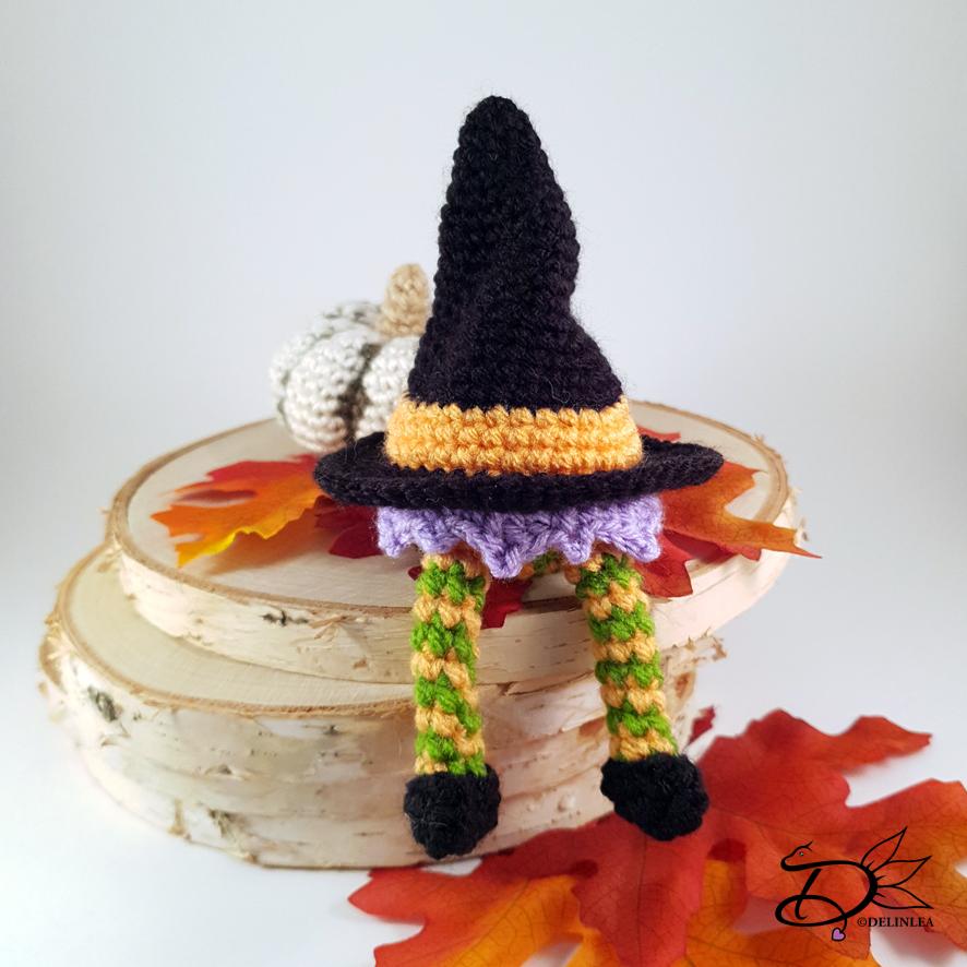 Amigurumi witch hat pattern. Crochet pattern. Amigurumi Halloween ... | 886x886