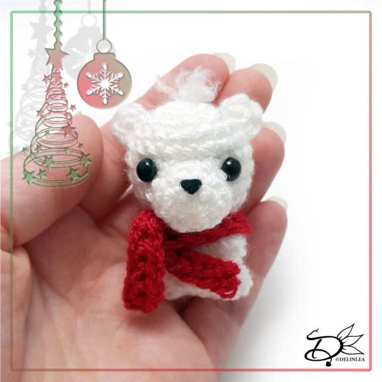 Polar Bear made with Amigurumi