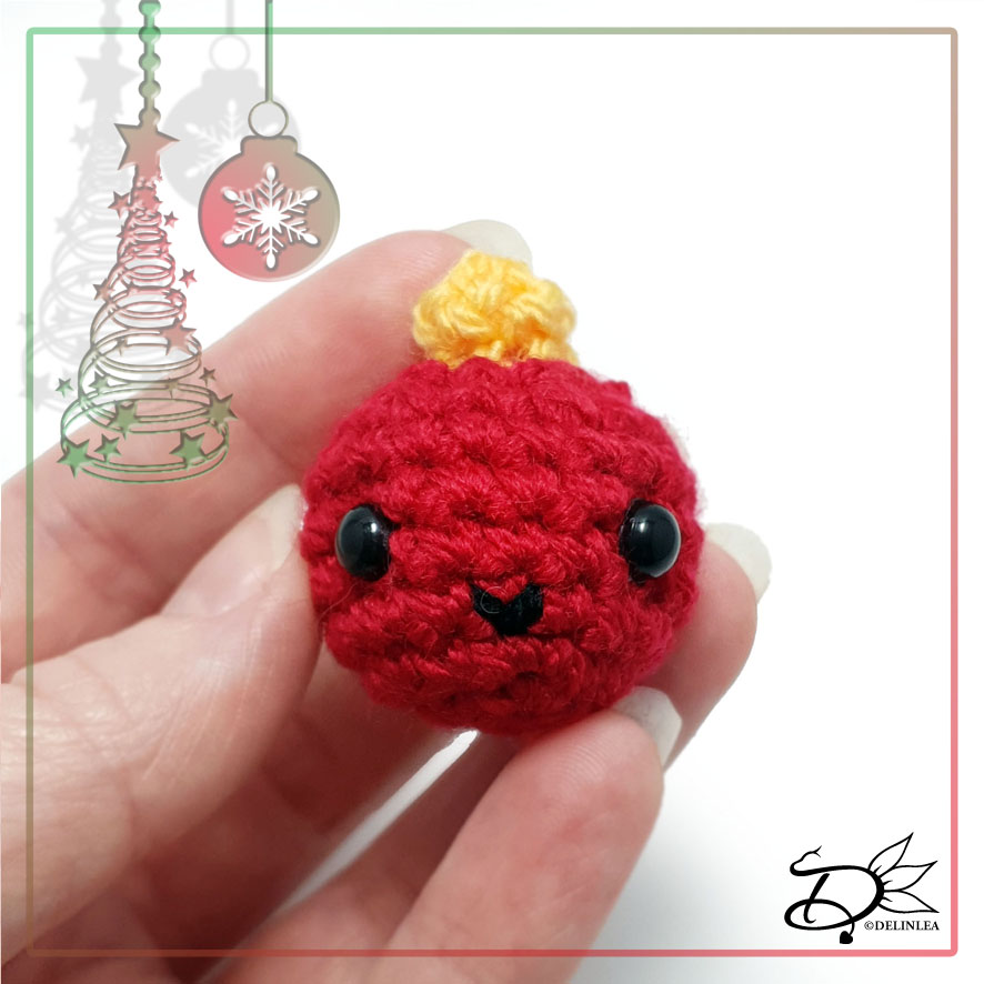 Bauble Made with Amigurumi