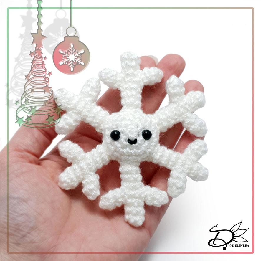 Snowflake made with Amigurumi