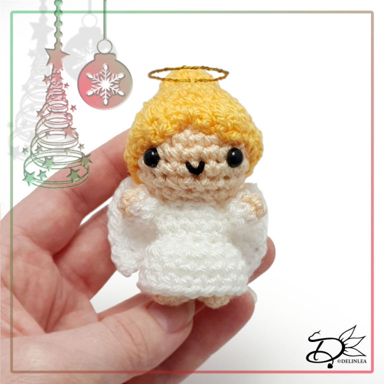 Christmas Angel made with Amigurumi