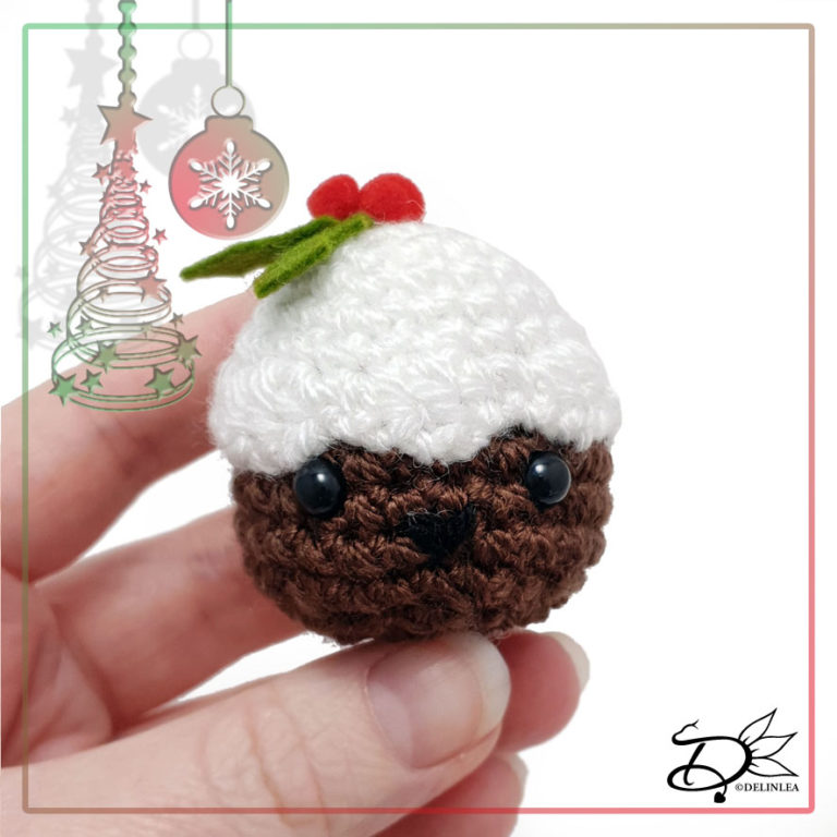 Christmas Pudding made with Amigurumi