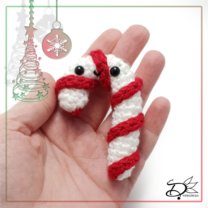 Candy Cane made with Amigurumi