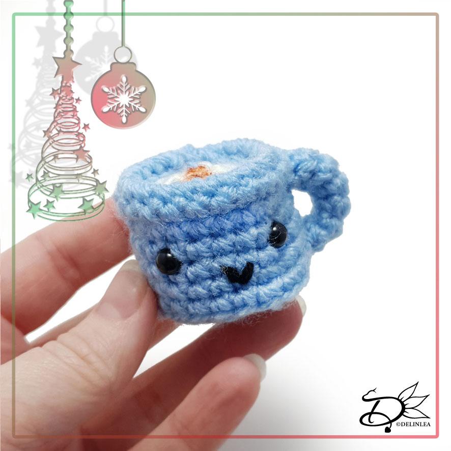 Christmas Mug made with Amigurumi