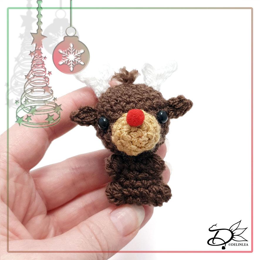 Rudolf made with Amigurumi