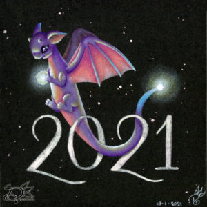 Dragon drawing that will bring light in 2021