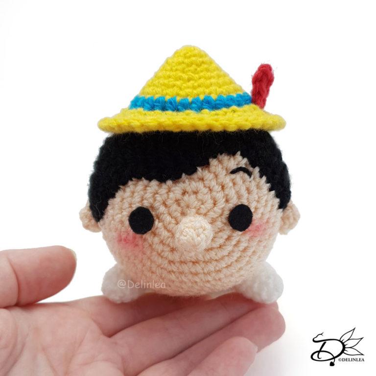 Pinocchio Tsum Tsum made with the Amigurumi technique