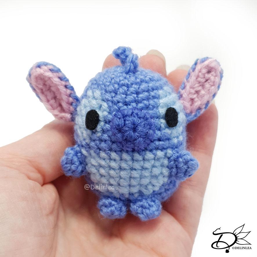 Stitch ufufy made with the amigurumi technique