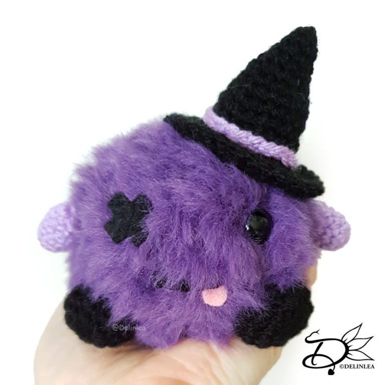 Halloween Creature made with the Amigurumi technique