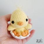 ♥ Free Pattern; Baby Chicken