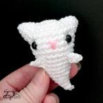 ♥ Free Pattern; Cat Ghost Amigurumi