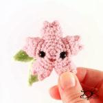 ♥ Free Pattern; Sakura Flower Amigurumi