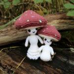 ♥ Mushroom Lady & Kid Amigurumi Shop Pattern